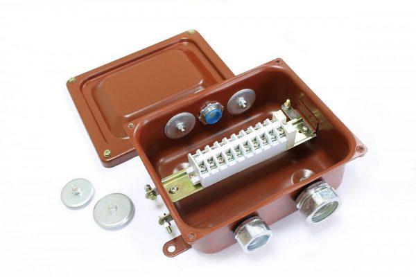 Клеммные коробки ККМА с муфтами АТК (труба-коробка)